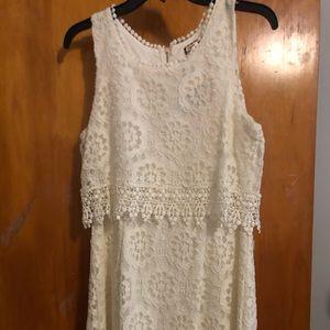 Lacy White Mini Dress